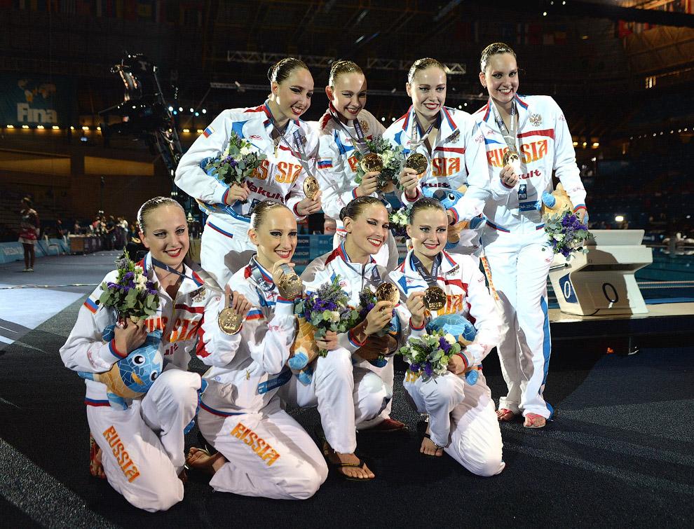 Сборная России с медалями