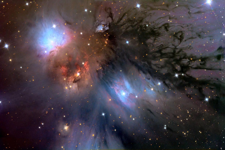 Отражающая туманность NGC 2170 и космическая пыль