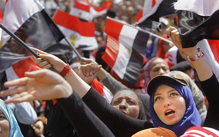 Демонстрация против президента Египта Мухаммеда Мурси на площади Тахрир в Каире