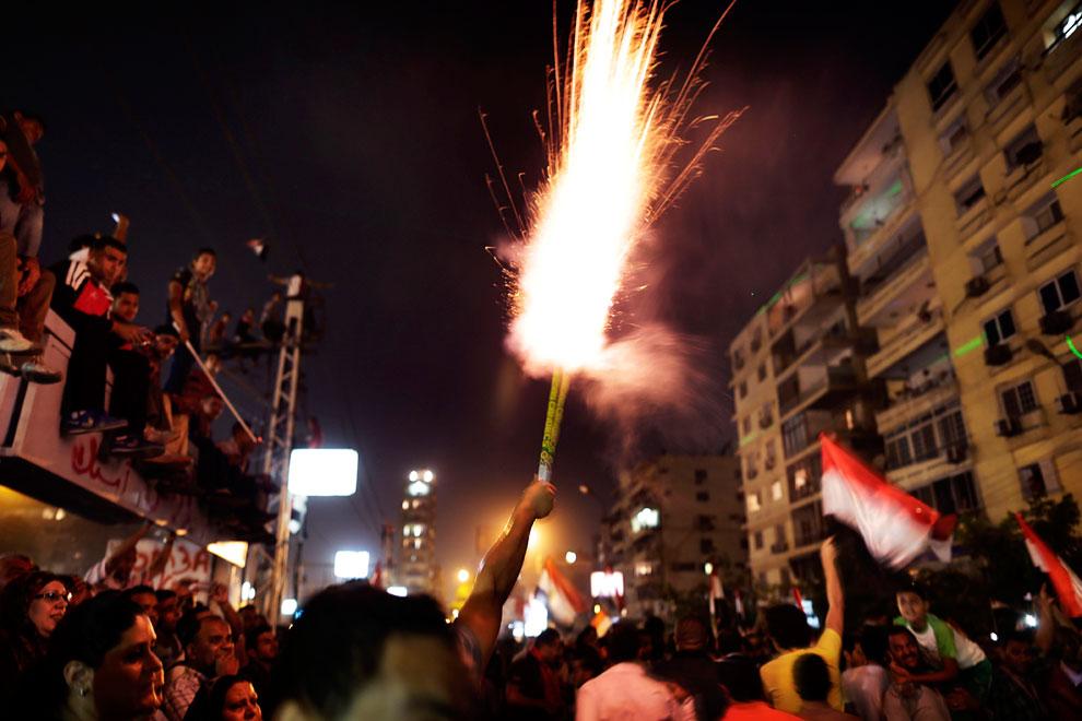 Акция протеста у президентского дворца в Каире