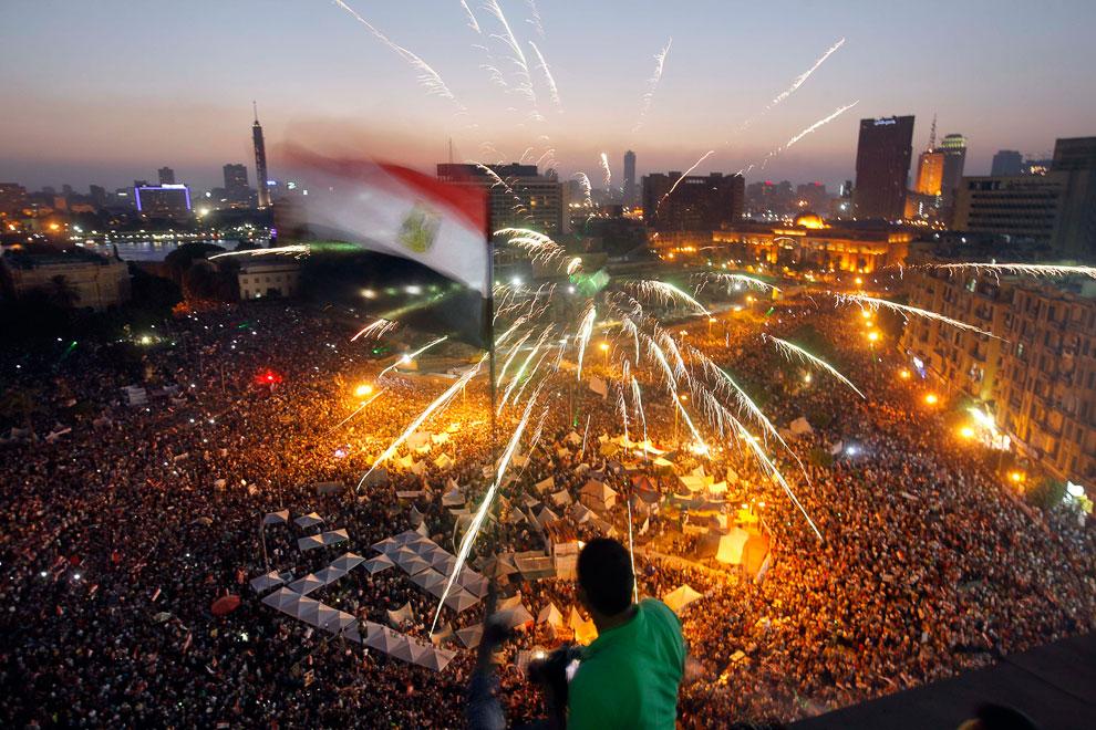 На площади Тахрир в центре Каира. Египет на пороге новой революции