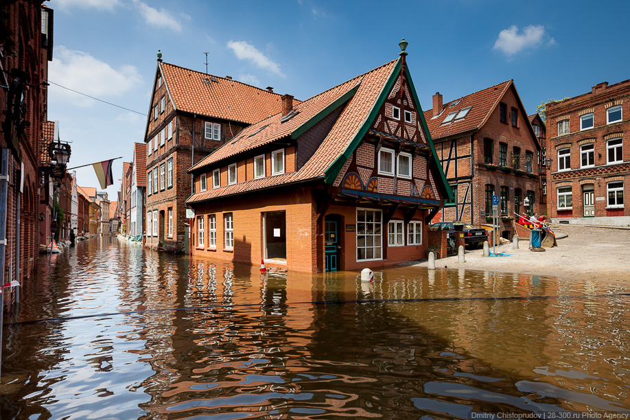 Съемка наводнений в Германии