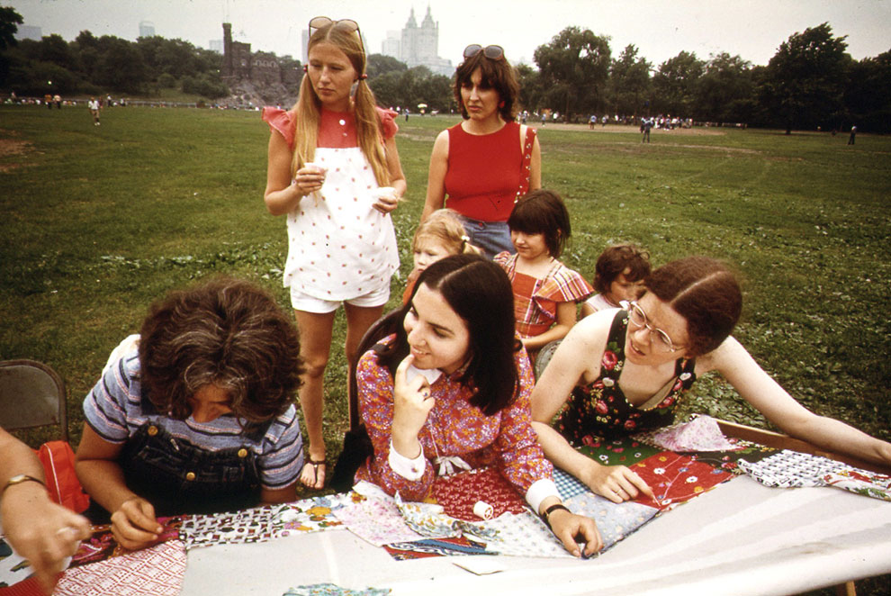 Летний вечер в Центральном парке Нью-Йорка 1970-х