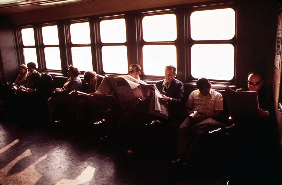 Пассажиры на Статен-Айленд Ферри, май 1973 года
