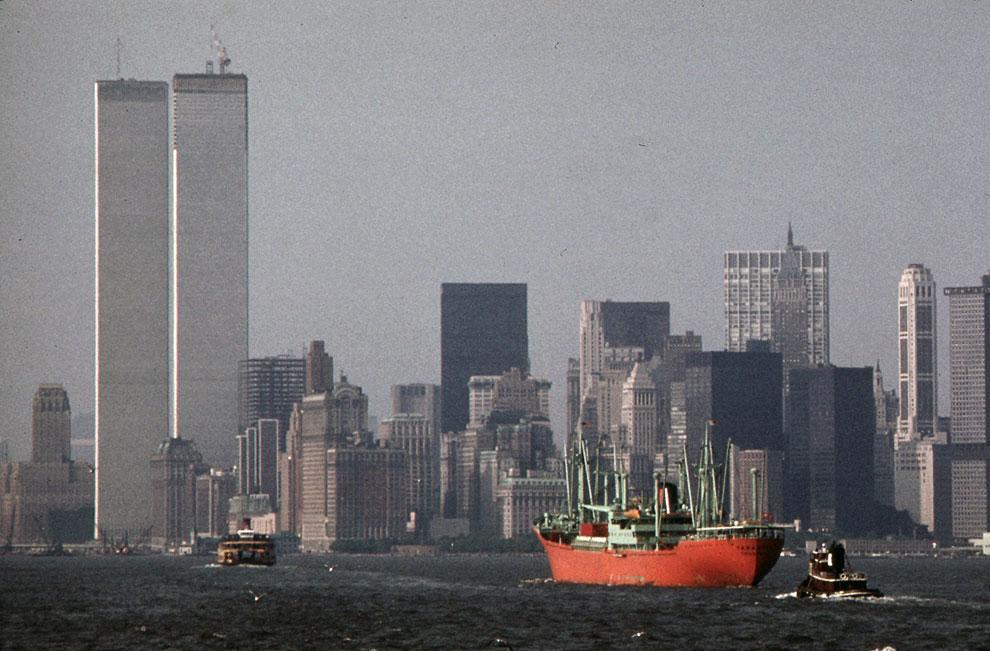 Вид на башни Всемирного торгового центра в мае 1973 года