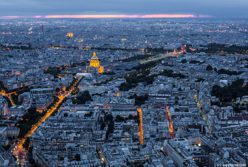 Это были виды Парижа башни Монпарнас