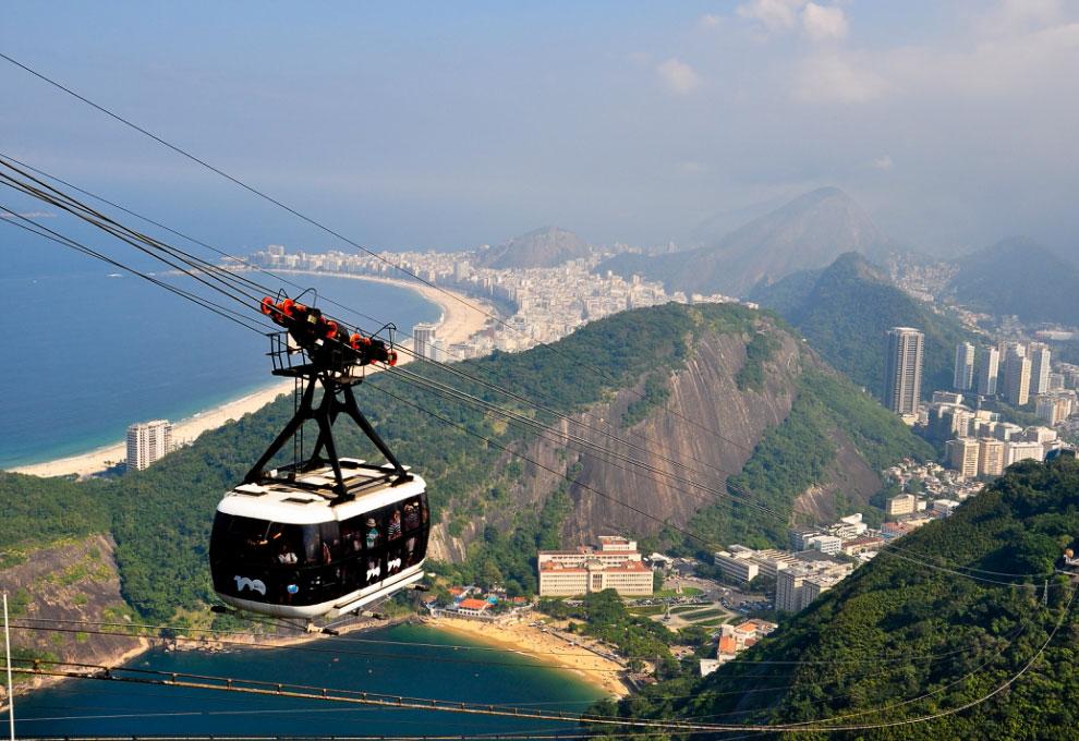 Сахарная Голова и Рио-де-Жанейро с высоты