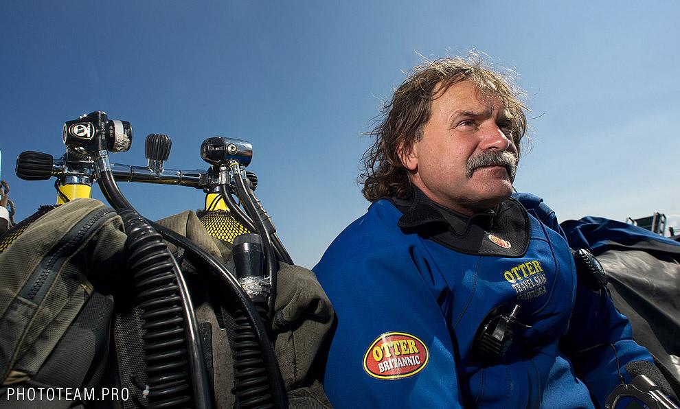 Подводный археолог Игорь Галайда