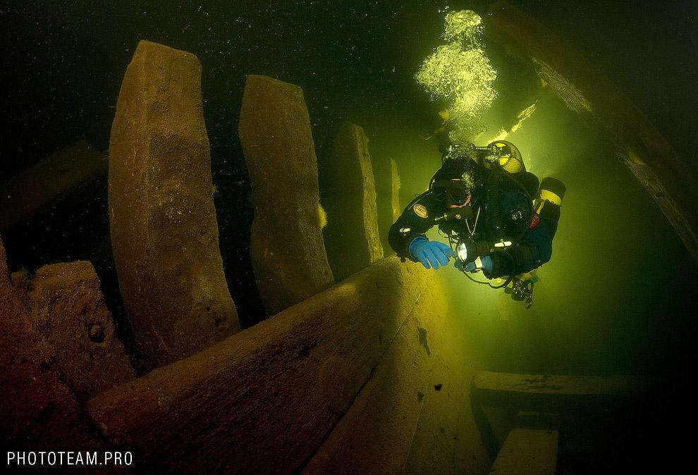 В трюме затонувшего судна «Луиза»