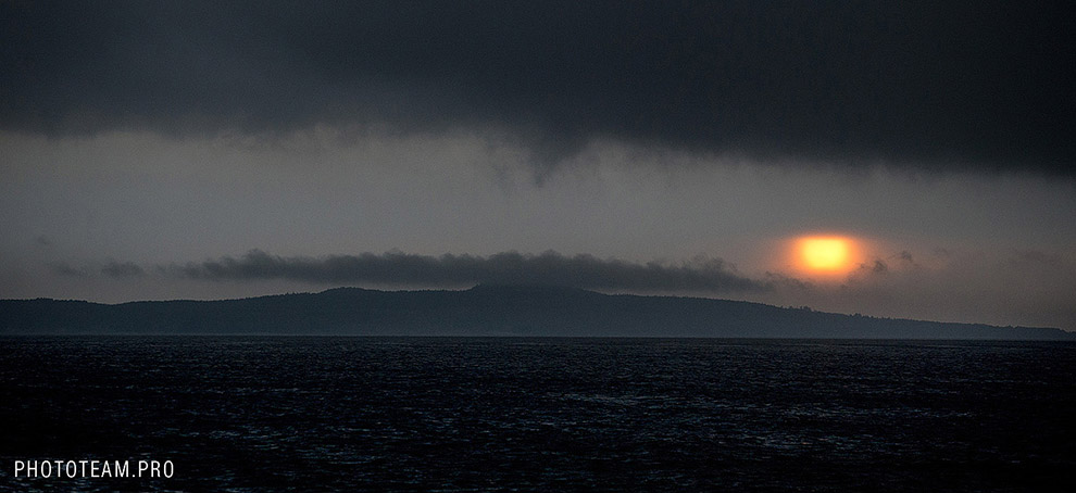 Гроза над островом Гогланд