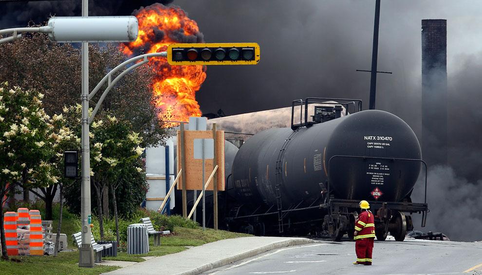 Горящий поезд, Лак-Межантик, Квебек
