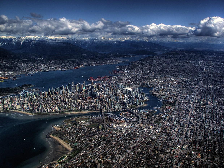 Ванкувер с высоты птичьего полета