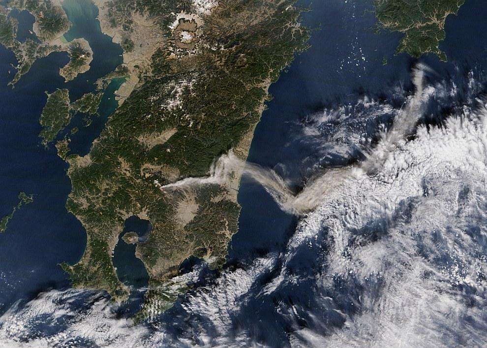 Вулкан Шин-Моедаке, Япония
