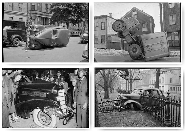 Автомобильные аварии прошлого