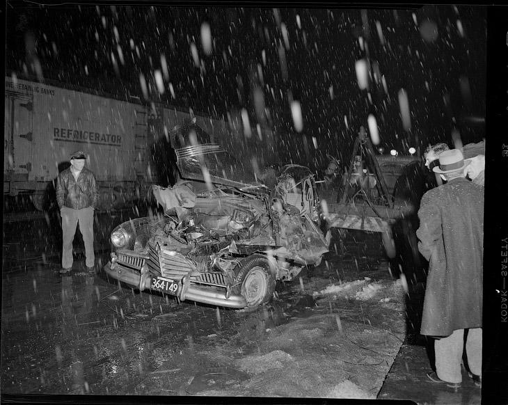 Потеряли управление на гололеде, 1949 год