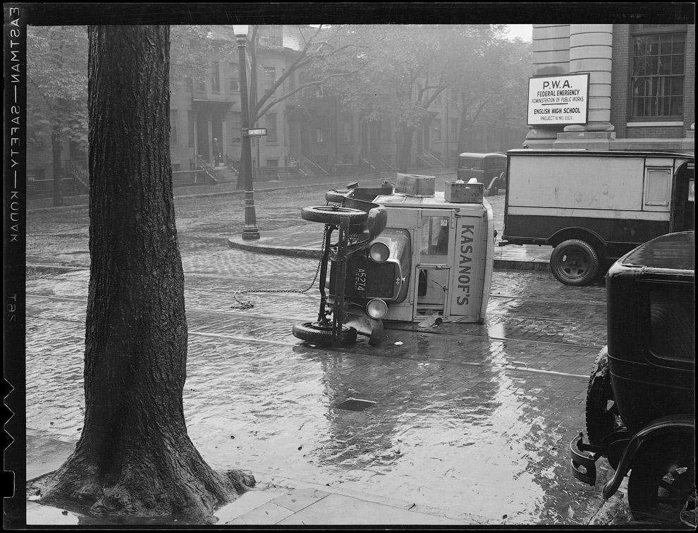 Машина «Казановы» перевернулась, 1936 год