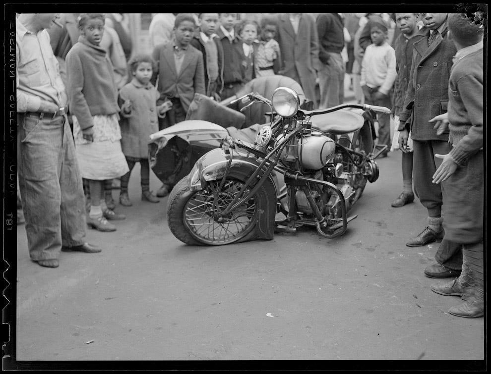 Авария с участием мотоцикла, 1938 год