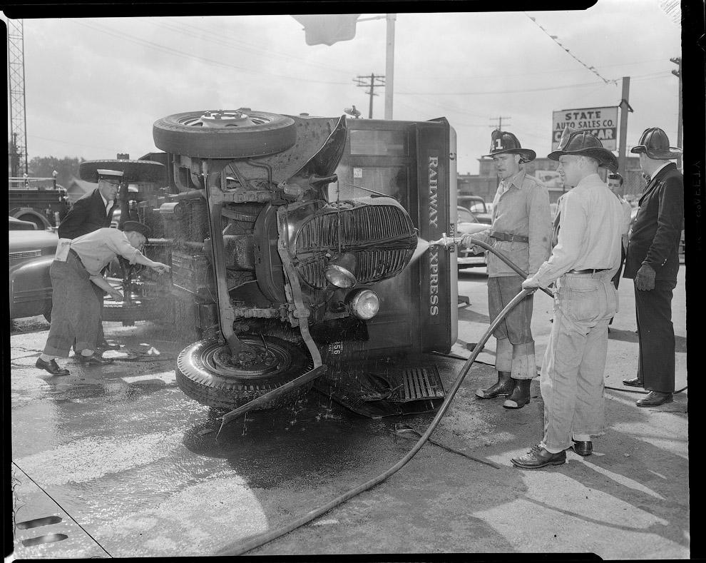 Пожарные за работой, 1951 год