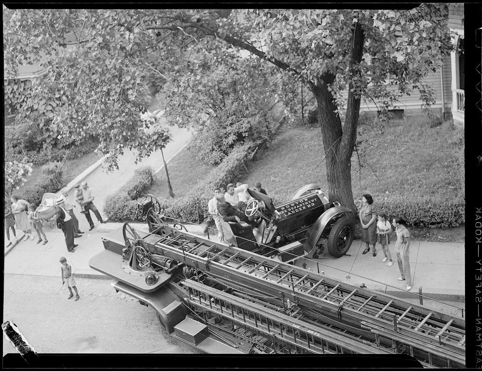 Авария с пожарной машиной, 1 сентября 1937 год