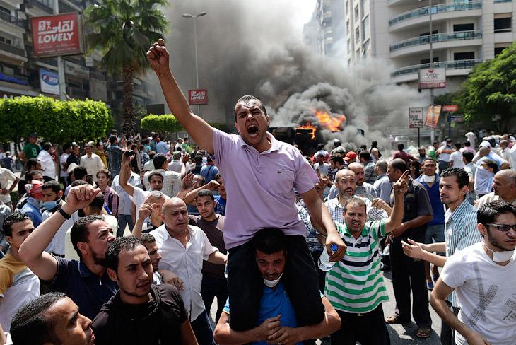 Сторонники свергнутого президента Египта Мухаммеда Мурси, Каир, Египет
