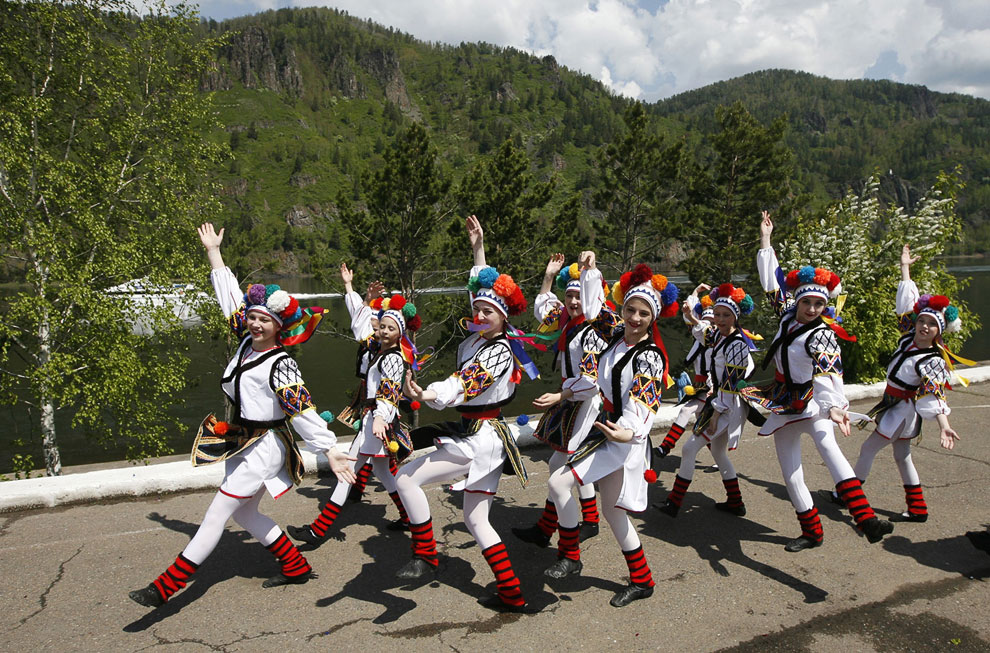 Участники детского музыкального фестиваля в Дивногорске