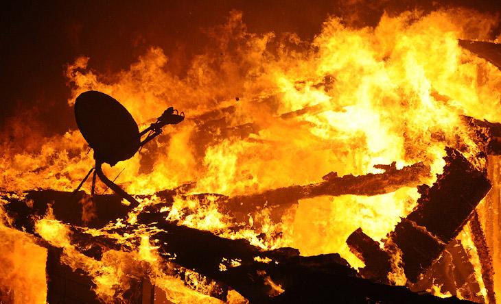 Серебряный огонь в Калифорнии