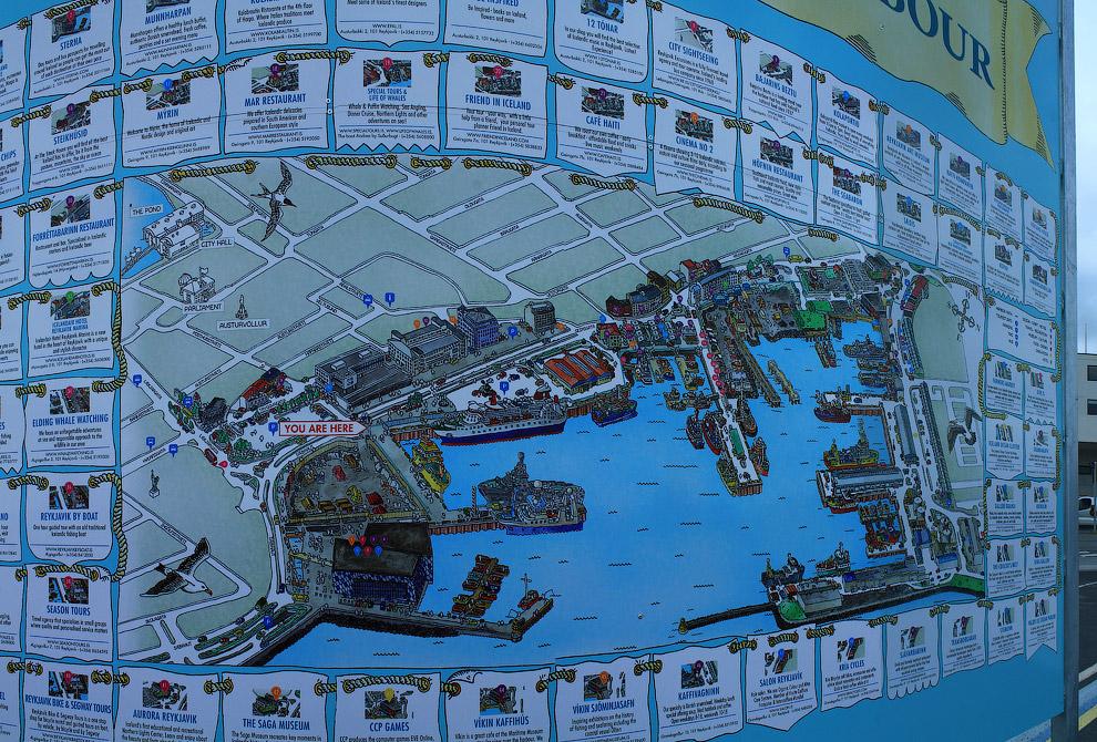 Можно отыскать подробную карту гавани и среди многочисленных лавочек и кафе отметить что-то интересное для себя