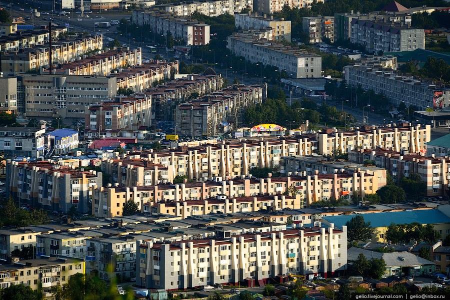 Петропавловск-Каматский с высоты