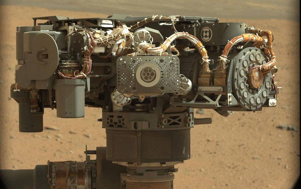 Автопортрет Curiosity на память, планета Марс