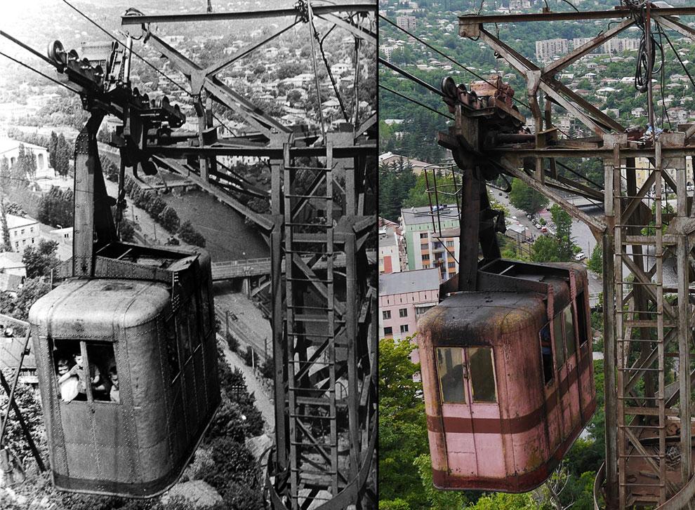 Слева — 1950-е годы, справа — сегодняшние дни. Мало что изменилось