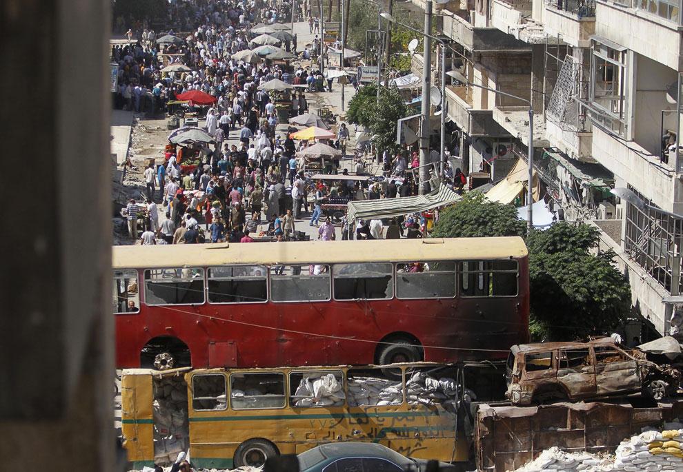 Баррикады на улицах, Сирия