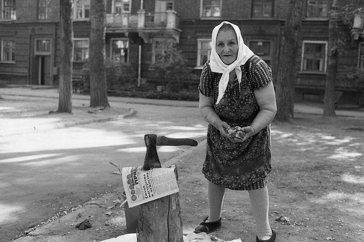 Женщина с суповым набором