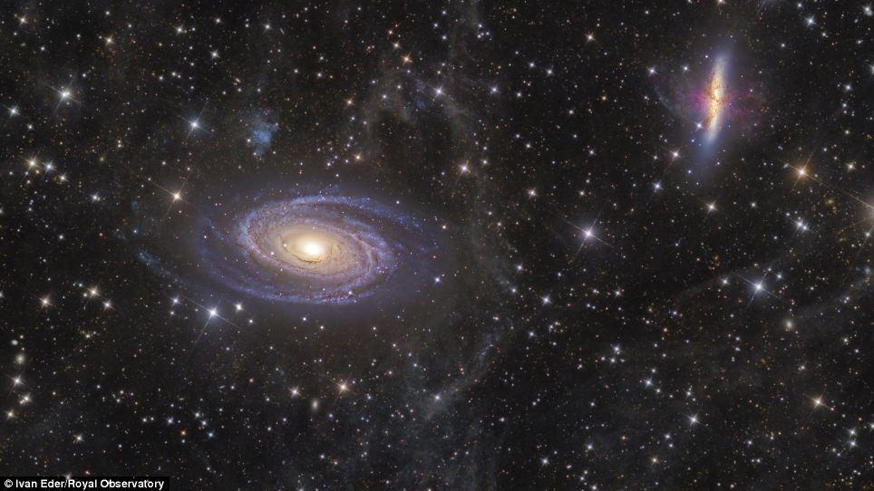 Галактики М81 и М82 в созвездии Большой Медведицы