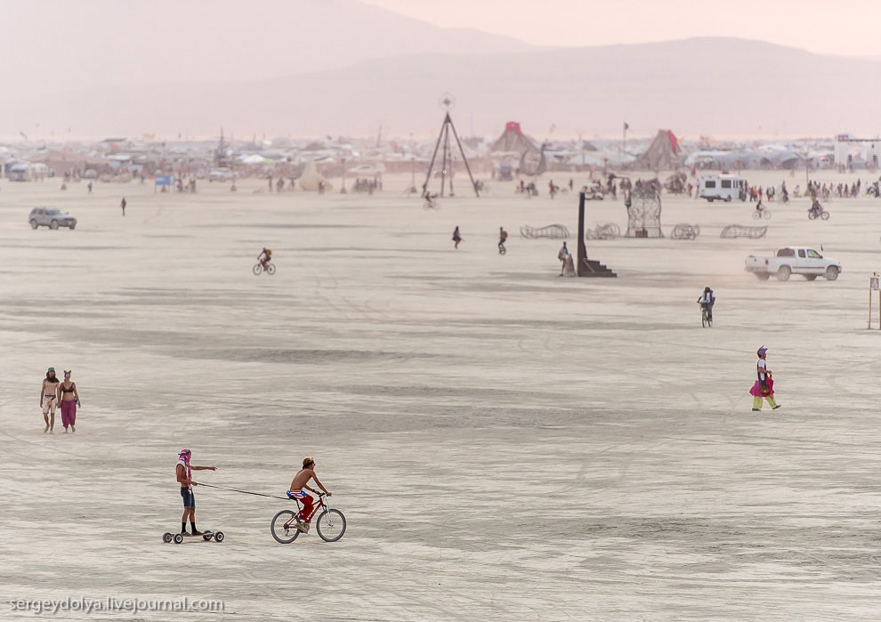 Некоторые запрягают велосипедистов и катаются на роликовых досках