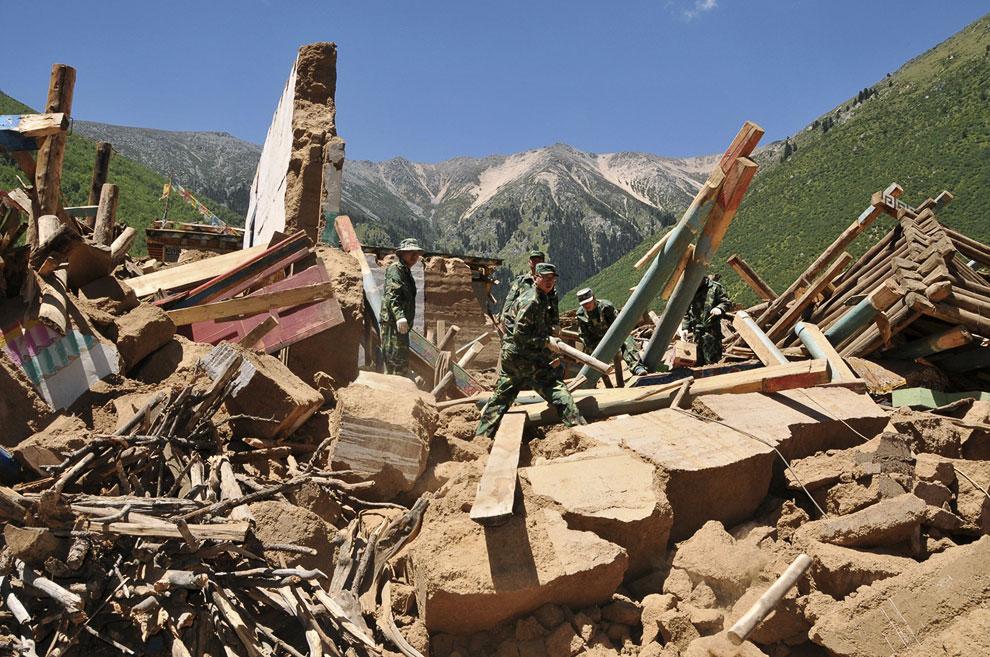 Последствия еще одного землетрясения в префектуре Чамдо, Тибетский автономный район