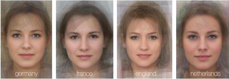 Компьютерная модель среднестатистической женщины в Германии, Франции, Англии и Голландии