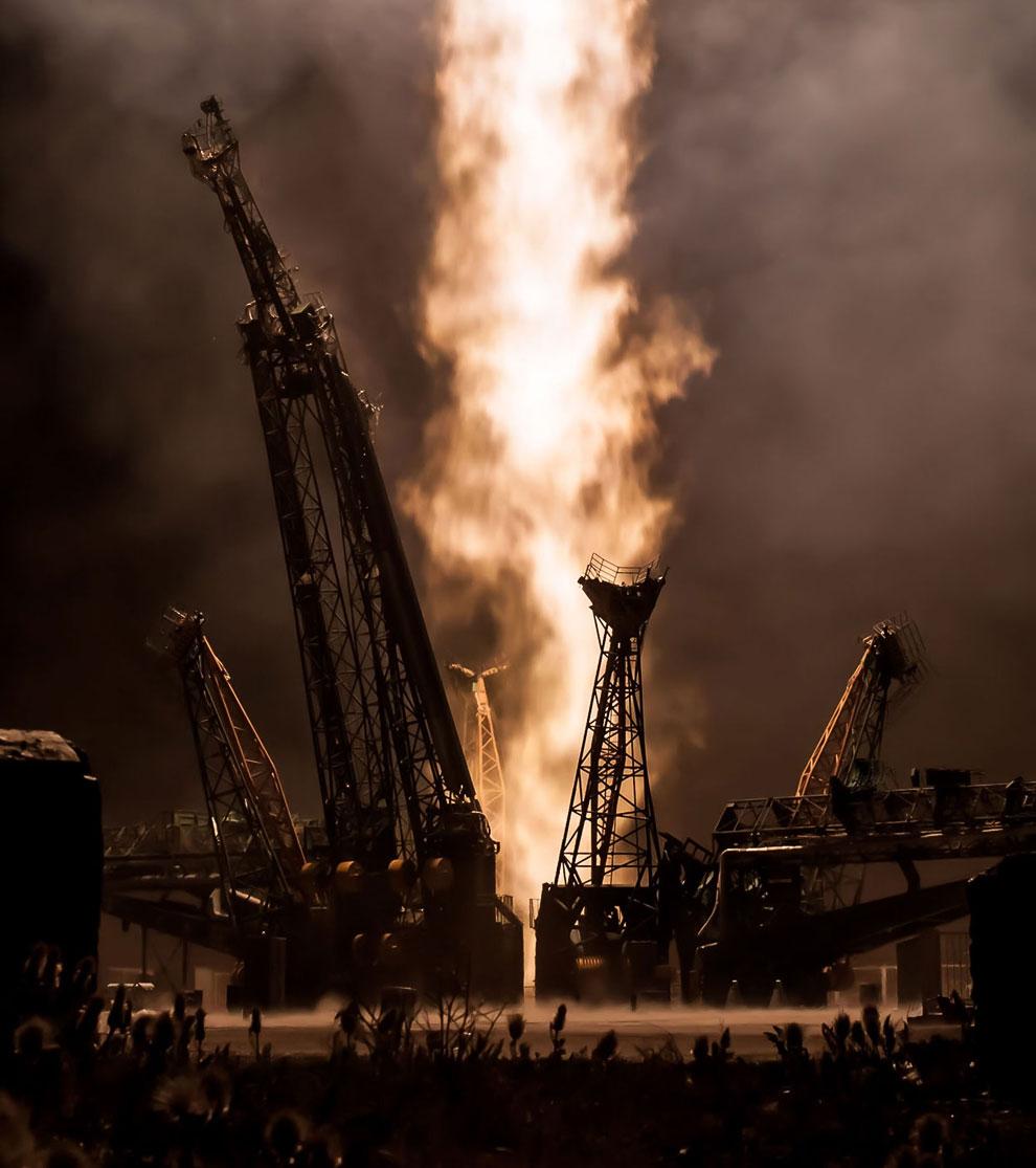 Поехали! Старт космического корабля «Союз ТМА-09М» с космодрома Байконур, 29 мая 2013