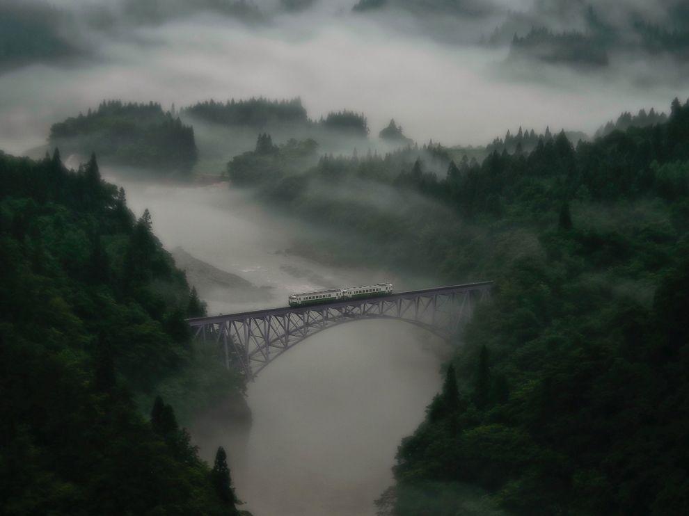 Железнодорожный мост, Япония