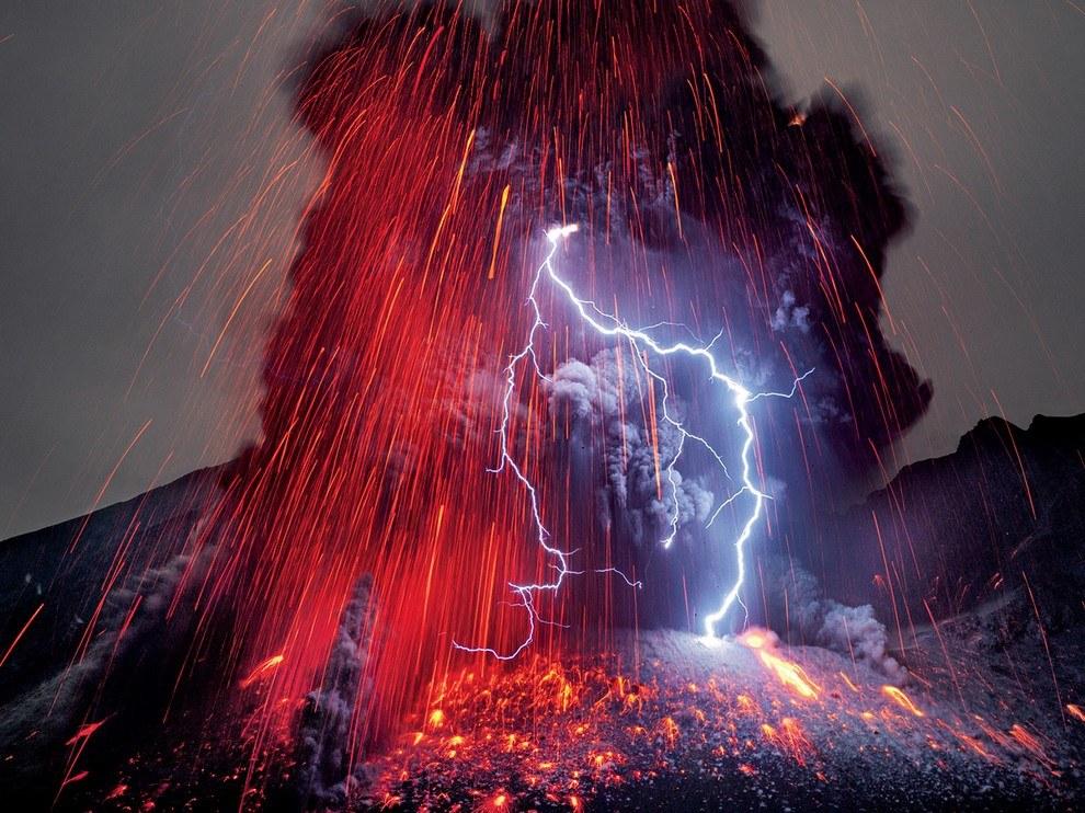 Вулкан Сакурадзима, Япония