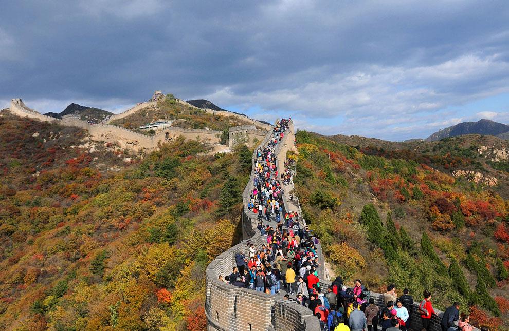 Великая китайская стена осенью