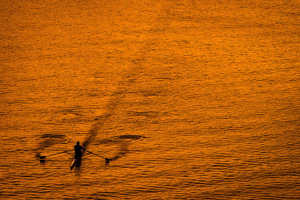 Осенняя река Потомак в Вашингтоне, округ Колумбия