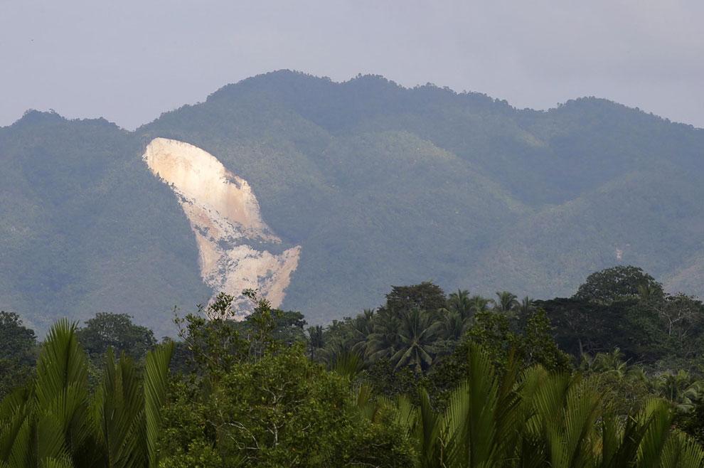7,2-бальное землетрясение вызвало оползень. Бохол, Филиппины
