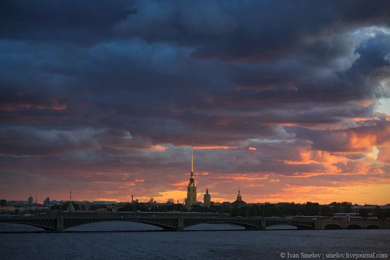 Акватория Невы, Троицкий мост и Петропавловская крепость