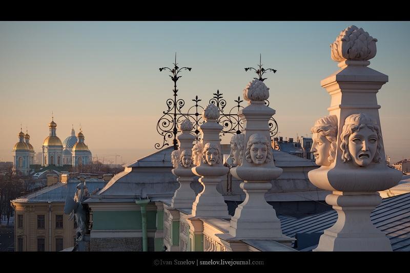Мариинский театр, Троицкий и Никольский соборыМариинский театр, Троицкий и Никольский соборы