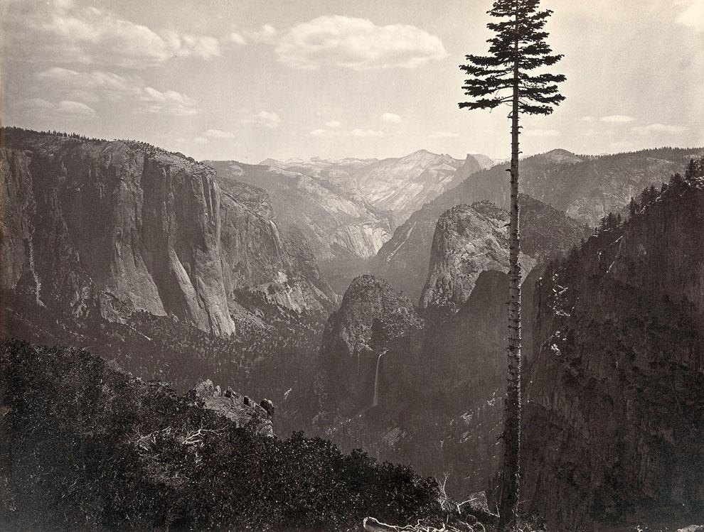 Долина Йосемити в 1865 году. Она занимает только 1% от общей территории современного парка