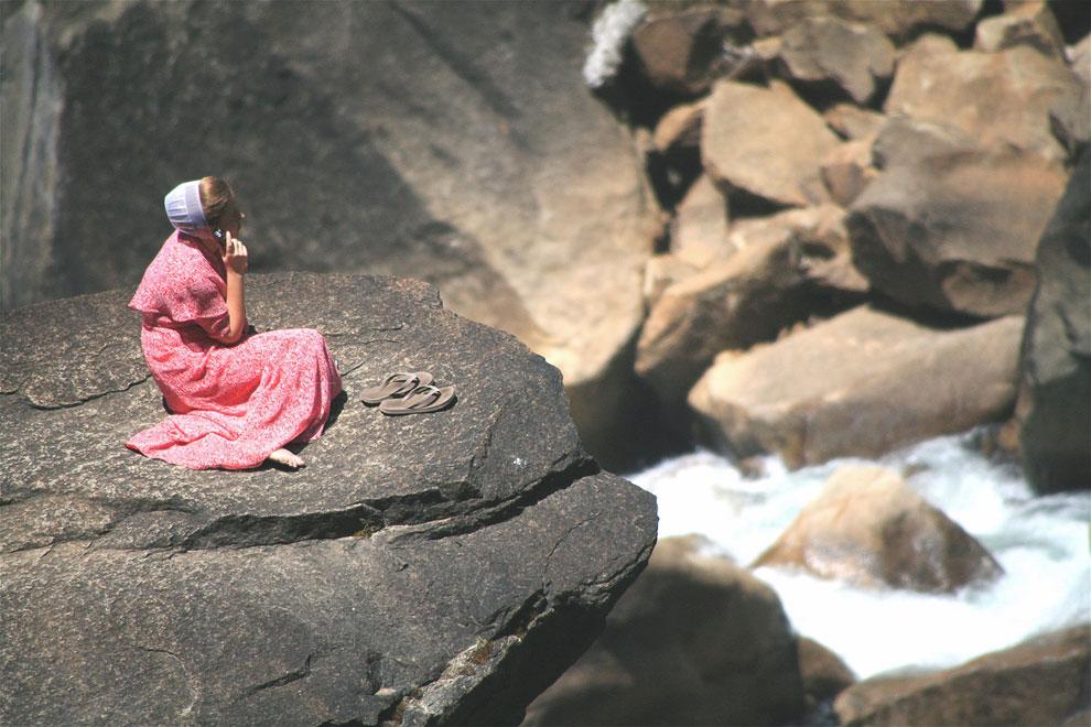У водопада Вернал