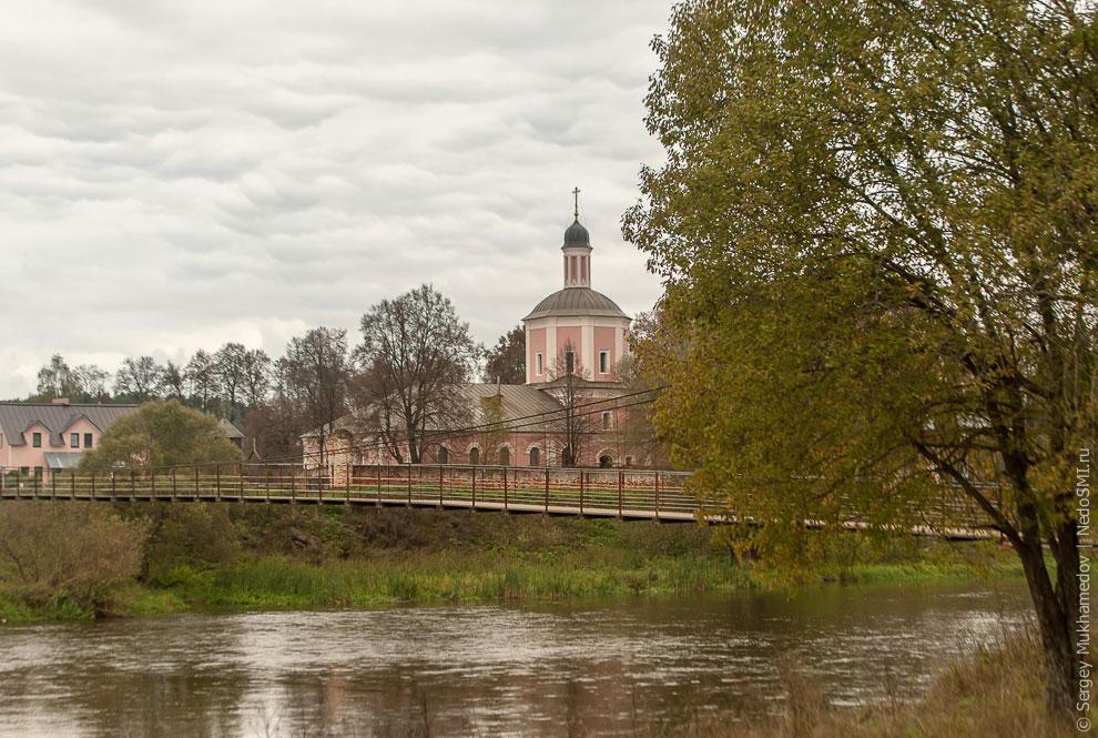 Подвесной мост через Москву-реку села Васильевское