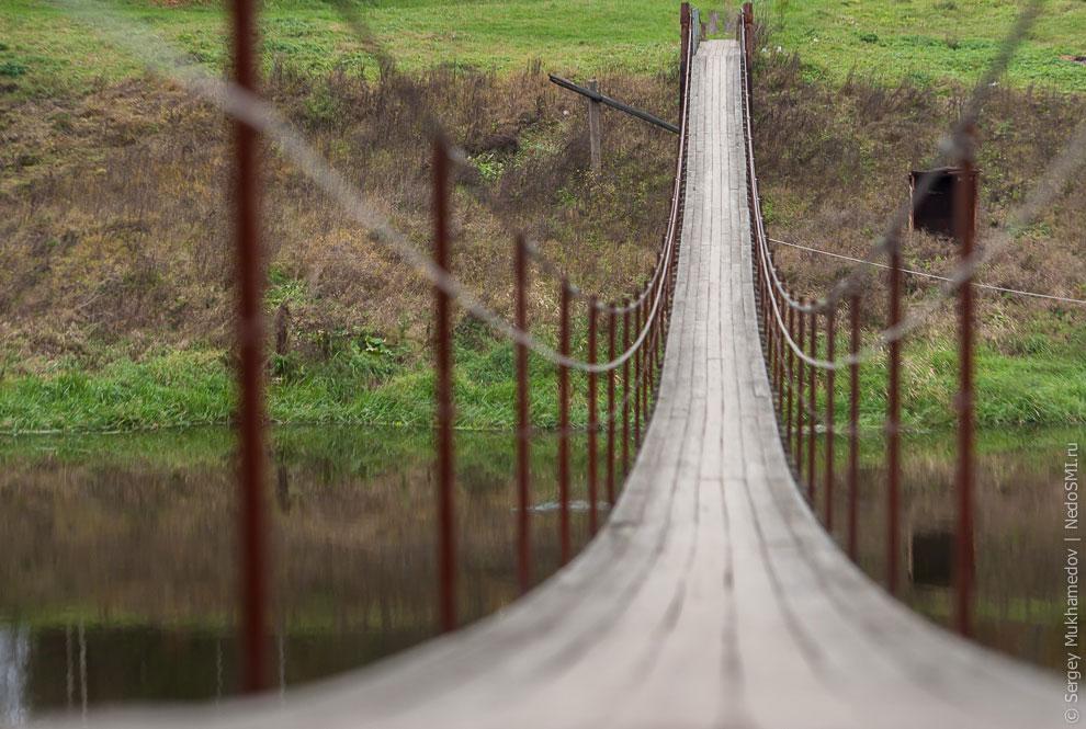 Подвесной мост в Ожигово