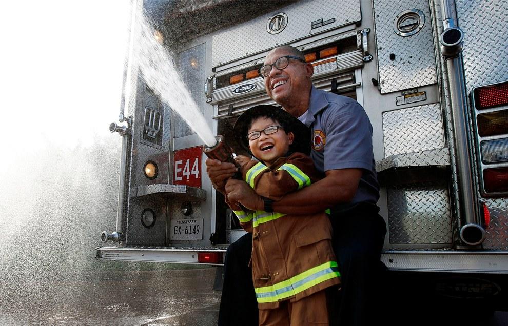 Будущий пожарный. Мемфис, штат Теннеси