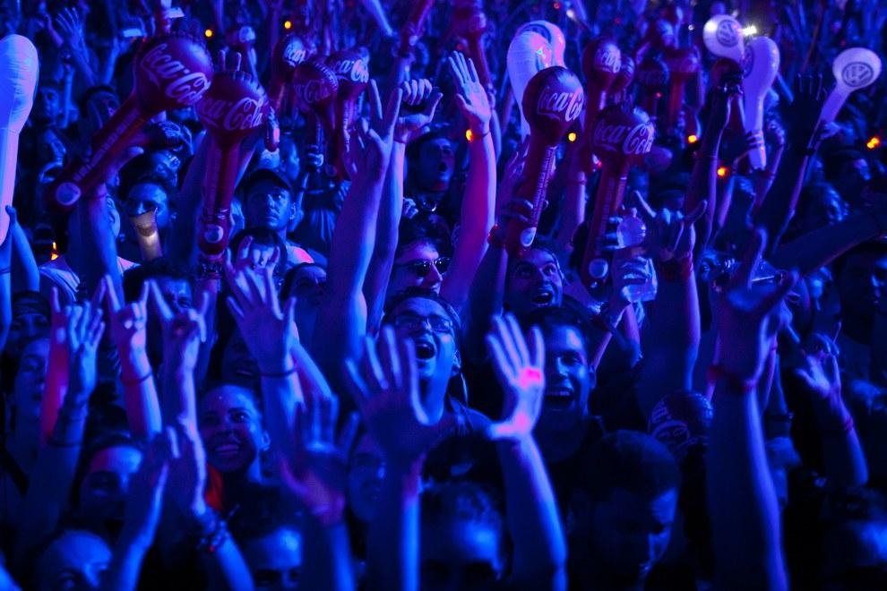 На музыкальном фестивале в Рио-де-Жанейро, Бразилия